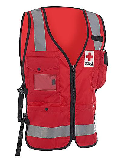 Red Cross Vest Workwear Jaedon Enterprises Ltd